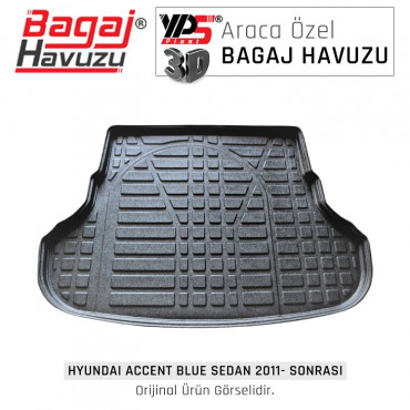 Accent Blue Sedan 2011 - Sonrası Lüks Bagaj Havuzu