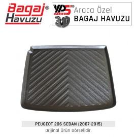 206 Sedan (2007 - 2015) Yumuşak Bagaj Havuzu